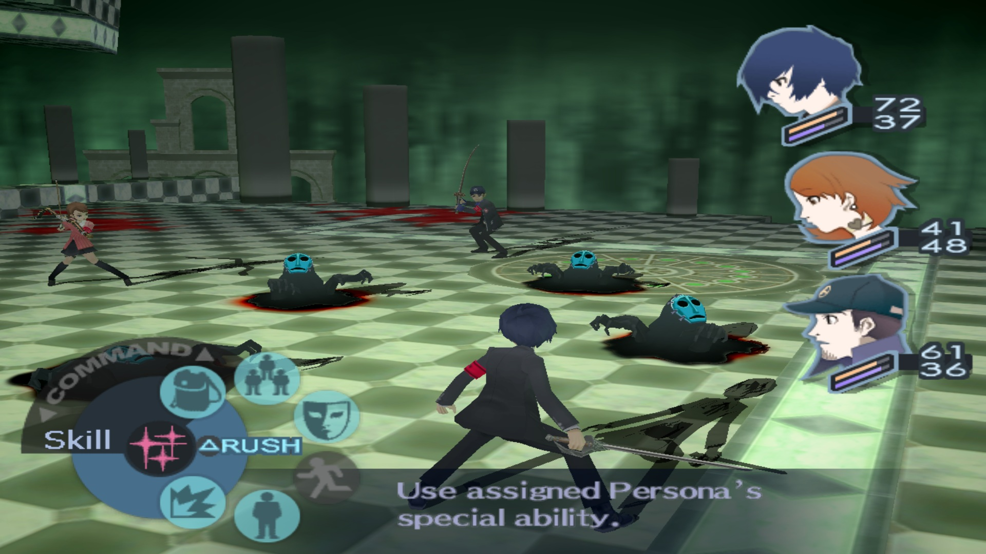 Image result for persona 3 gameplay